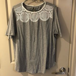 Loft t shirt with lace detail
